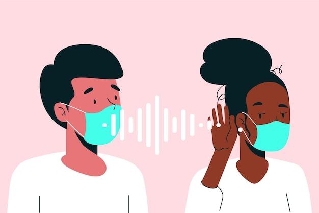 Problema de leitura labial devido a máscaras faciais