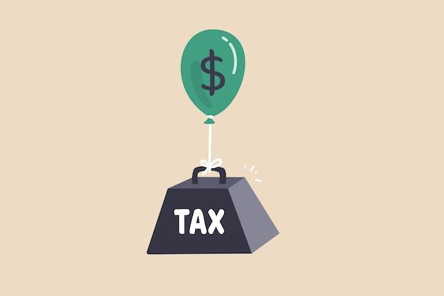 Problema de tributação da carga tributária para o conceito de acumulação de riqueza