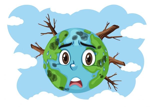 Problema mundial com poluições e secas