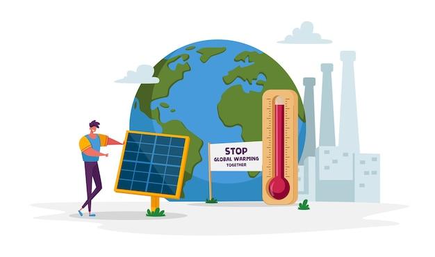 Problemas ambientais e de aquecimento global de energia verde