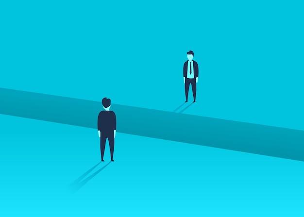 Problemas de comunicação ou negociação de negócios, questões