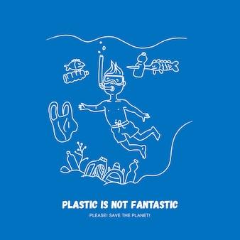 Problemas de plástico resíduos de ecologia