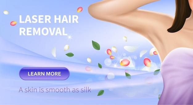 Procedimento de remoção de pêlos a laser