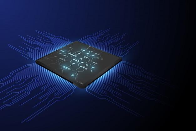 Processador de chip de tecnologia