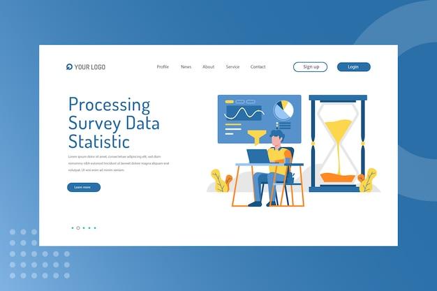 Processando estatísticas de dados de pesquisa na página de destino