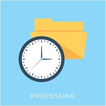 Processando ícone de vetor plano