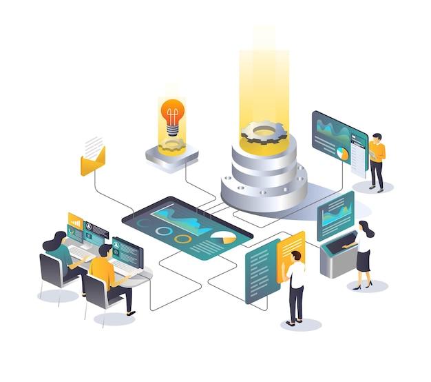 Processo de análise de hospedagem de big data center