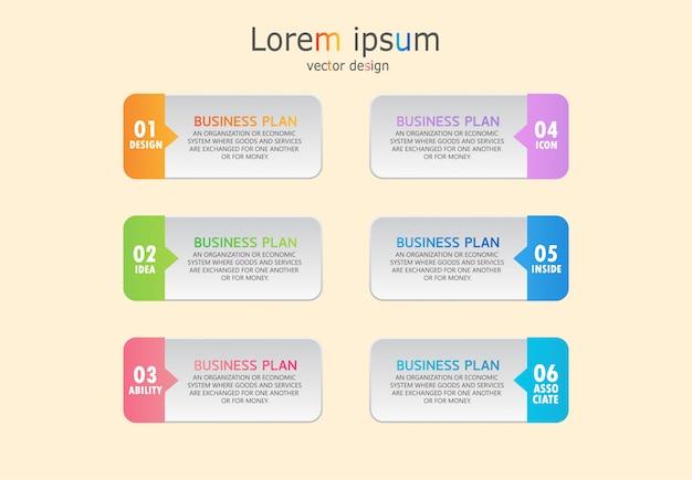 Processo de apresentação, layout, banner, gráfico de dados.