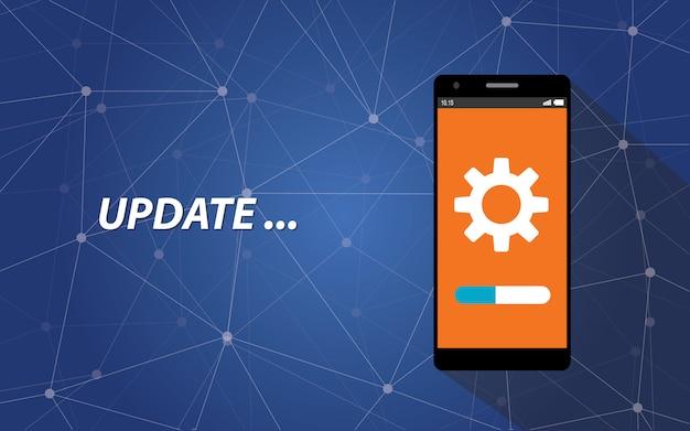 Processo de atualização do smartphone
