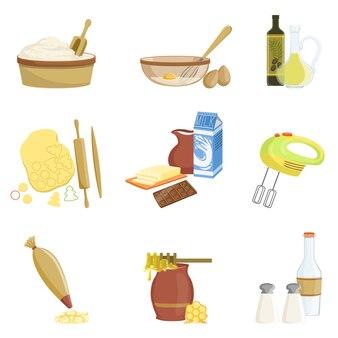 Processo de cozimento e conjunto de equipamentos de cozinha de itens isolados