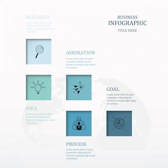 Processo de infográfico cinco ou passo.