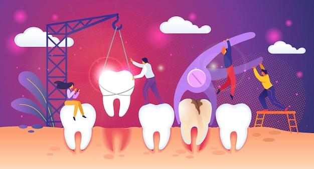 Processo de remoção de dente insalubre