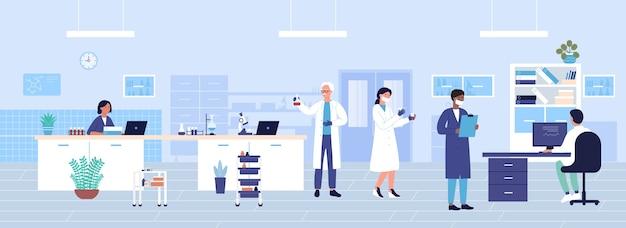 Processo de trabalho de laboratório de clínica hospitalar