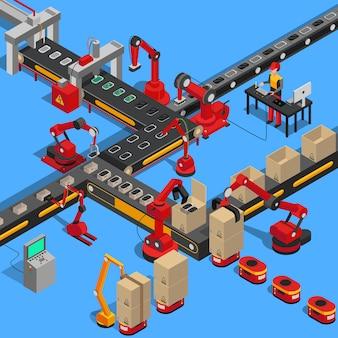 Processo de transporte industrial de produção de equipamentos técnicos