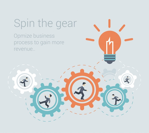 Processo eficaz de brainstorming trabalho em equipe inovação colaboração força de trabalho conceito design plano ilustração