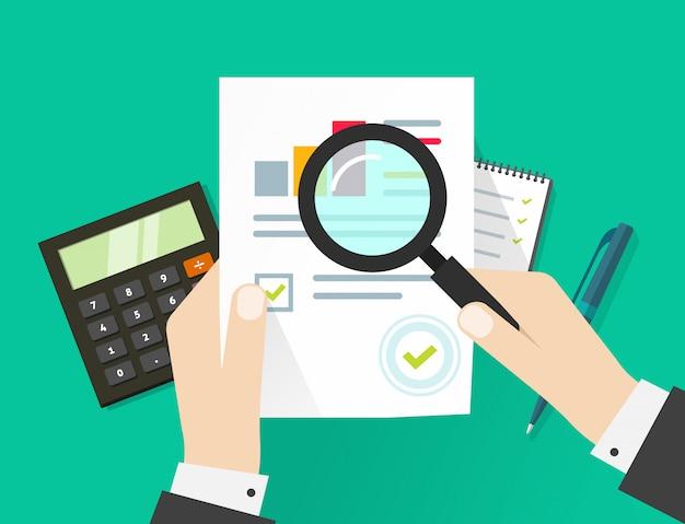 Processo fiscal de auditoria financeira