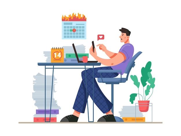 Procrastinação e distração no local de trabalho