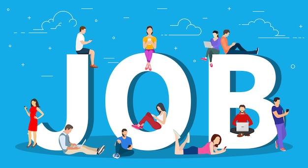 Procura de emprego, recrutamento, contratação,