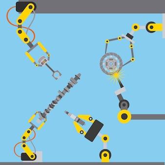 Produção de tecnologia de indústria de braço de robô