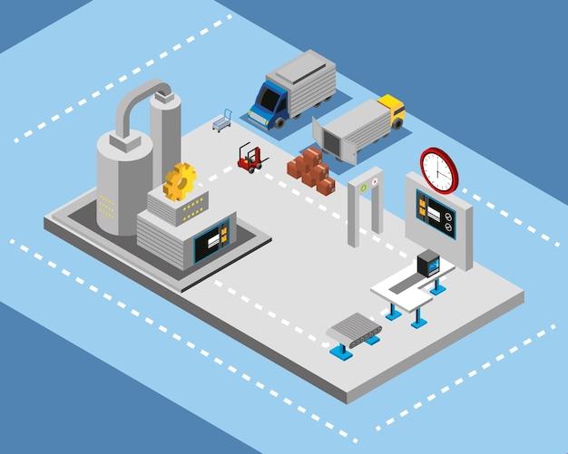 Produção e distribuição industrial