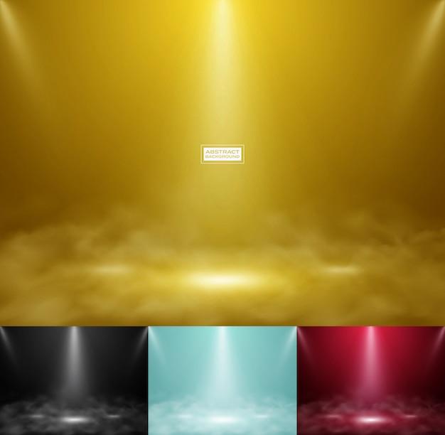 Produto abstrato mostrar conjunto de fundo colorido