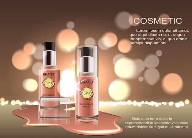 Produto cosmético, fundação, corretivo, creme. produto cosmético, corretivo, corretor, creme.