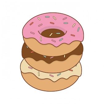 Produto de confeitaria delicioso donuts doce