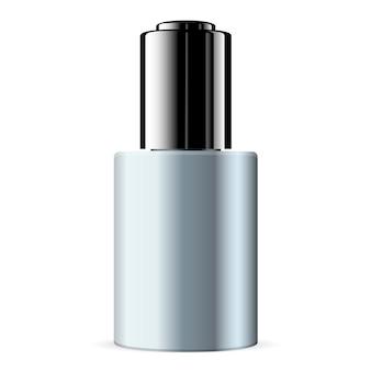 Produto de cuidado cosmético da pele do soro. garrafa de vetor