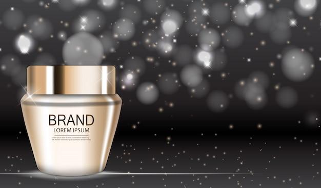 Produto de design de cosméticos. 3d realista