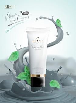 Produto de lama vulcânica para a pele
