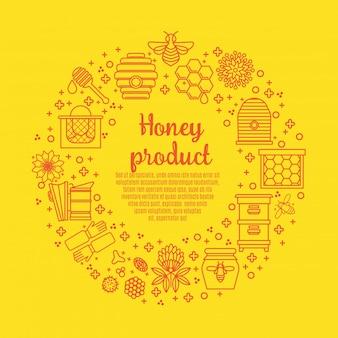 Produto de mel sunny banner.