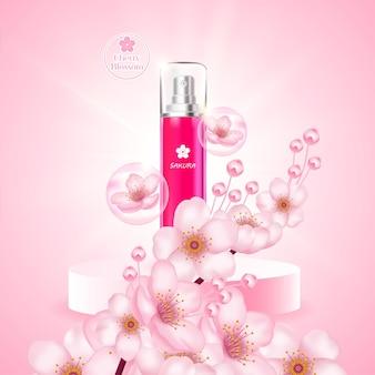 Produto de soro em creme de flor de cereja