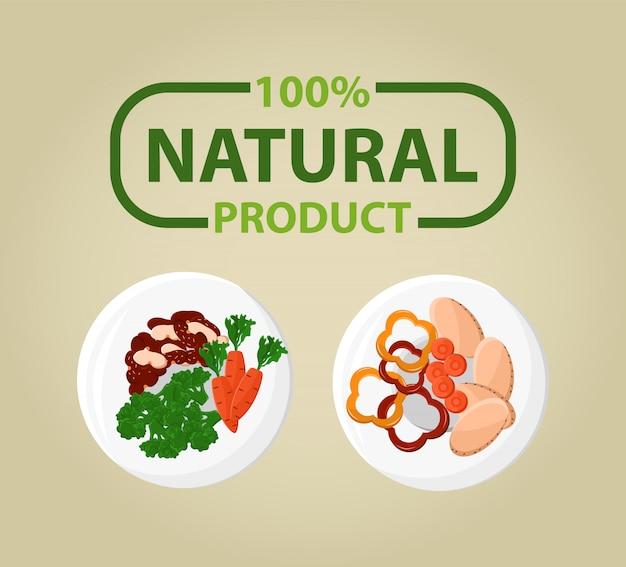 Produto natural bio dish, 100 porcentagem ecológica