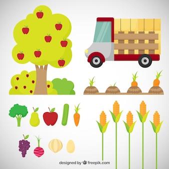 Produtos agrícolas e elementos