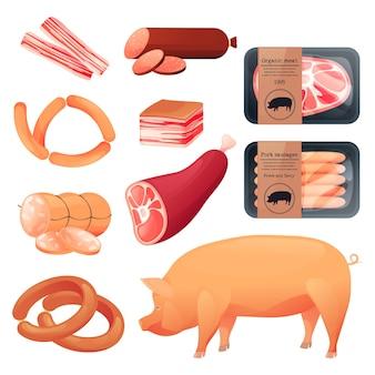 Produtos alimentícios de suínos, açougue e embutidos