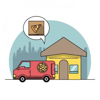 Produtos alimentícios e entrega