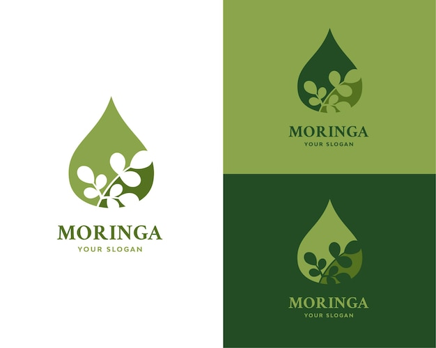 Produtos com logotipo de óleo de moringa