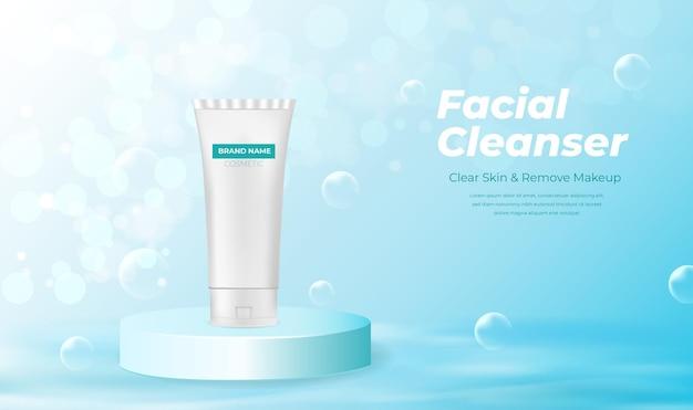 Produtos cosméticos de limpeza facial