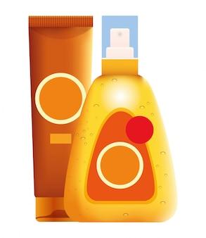 Produtos cosméticos para bronzeadores solares