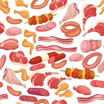 Produtos de carne sem costura
