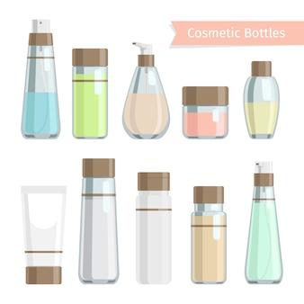 Produtos de garrafa de cosméticos