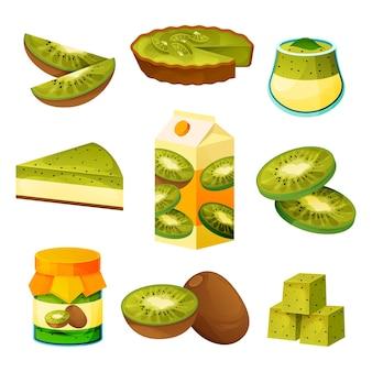 Produtos de kiwi e comida de frutas