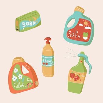 Produtos de lavanderia e limpeza