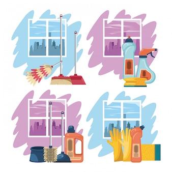 Produtos de limpeza para casa