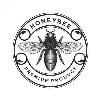 Produtos de mel ou logotipo de fazendas de abelhas