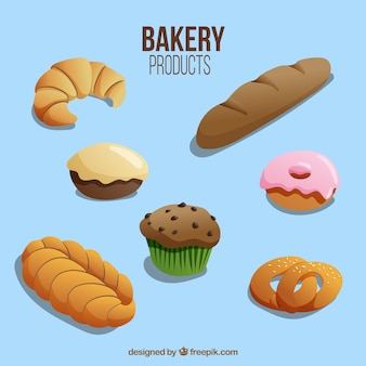 Produtos de padaria deliciosas