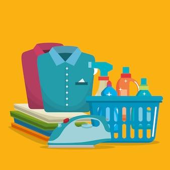 Produtos de serviço de lavandaria