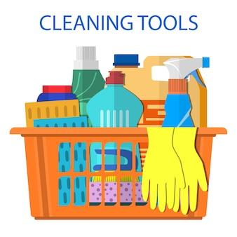 Produtos e acessórios para limpeza doméstica