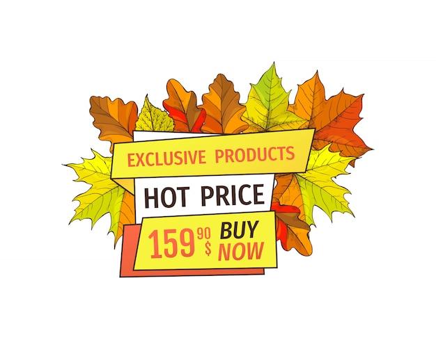 Produtos exclusivos de outono compre agora no super hot price
