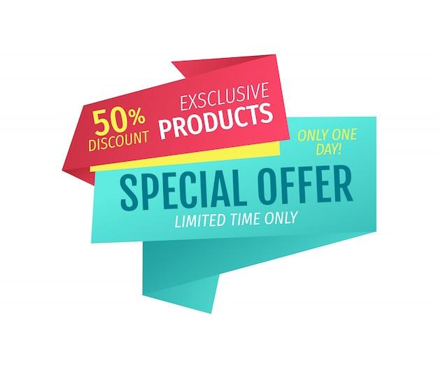 Produtos exclusivos para metade do preço oferta de um dia